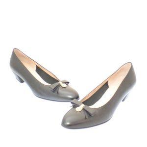 SALVATORE FERRAGAMO Black Block Heels Item#14404